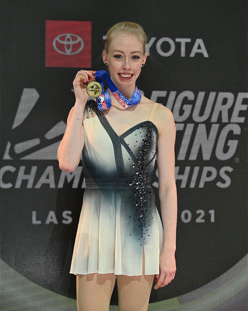 Bradie Tennell performs in competition.